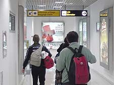 Arrival at Belgrade airport in Serbia