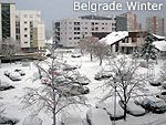 New Belgrade in winter